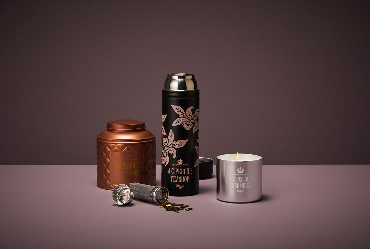 Tea infuser and tin products for Perch's