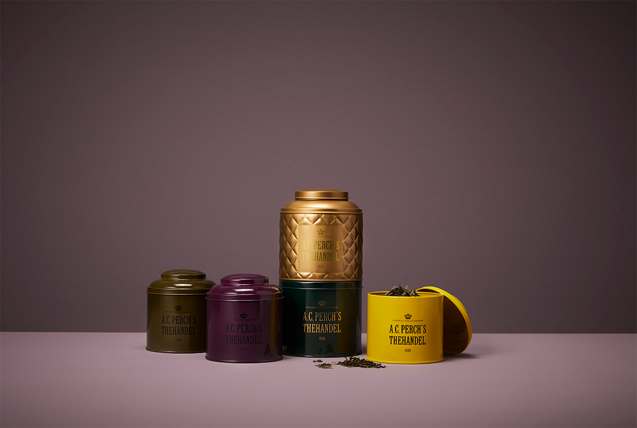 Tea cans for A.C. Perch's